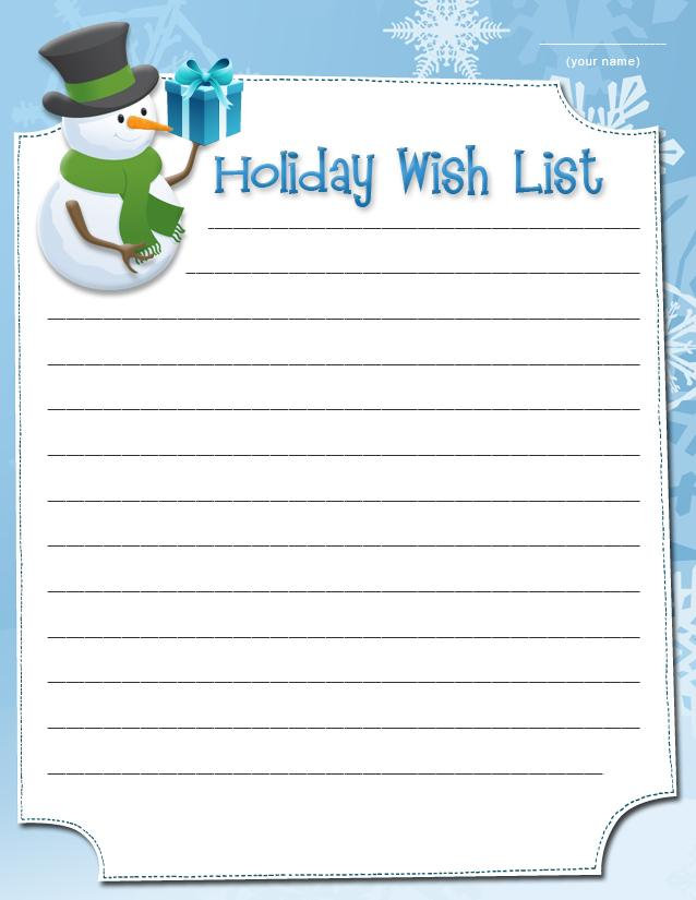 Doc595842 Printable Wish List Template 25 Best Ideas about – Free Christmas List Template