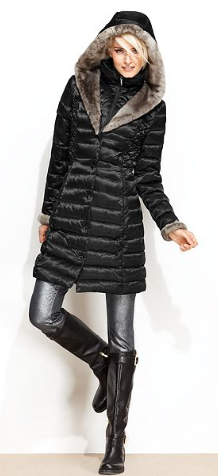 Puffer Jacket Shelly Segal Fur
