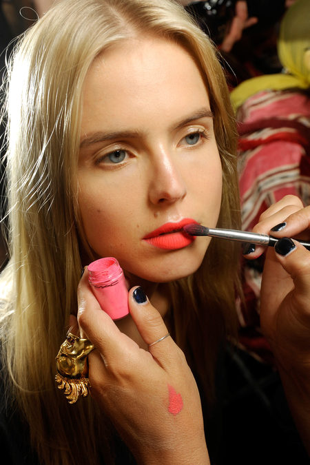 Bright Lipstick Missoni Spring RTW 2013