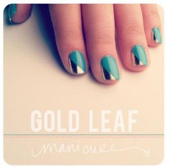 Gold Leaf Nails from Fashion Diva Design